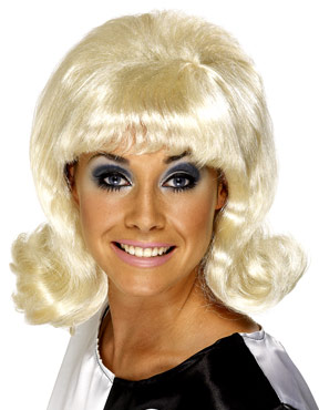 Flick Up 60s Lady Wig Blonde