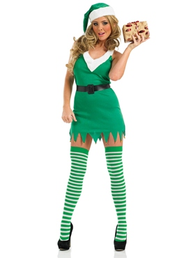 Adult Flirty Elf Costume - Back View