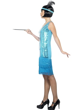 Adult Flirty Flapper Costume - Back View