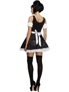 Adult Flirty French Maid Costume - Side View