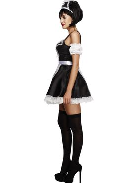 Adult Flirty French Maid Costume - Back View