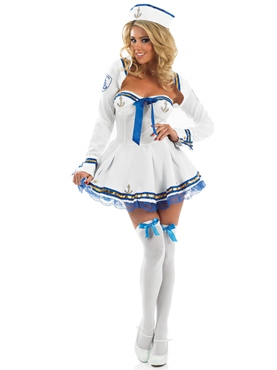 Adult Flirty Sailor Costume - Back View