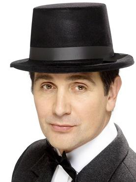 Flocked Topper Black Hat