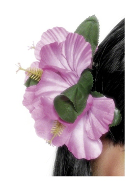 Flower Hawaiian Hair Clip Pink