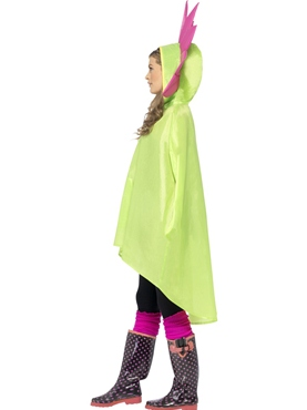Flower Party Poncho Festival Costume - Side View