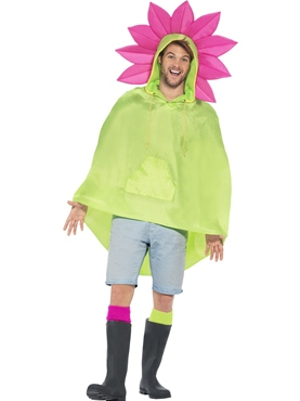 Flower Party Poncho Festival Costume - Back View