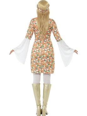 Adult Ladies Flower Power Costume - Side View