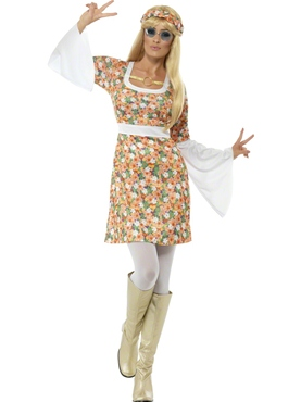 Adult Ladies Flower Power Costume