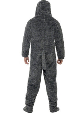 Adult Fluffy Dog Onesie Costume - Back View