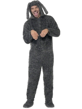 Adult Fluffy Dog Onesie Costume