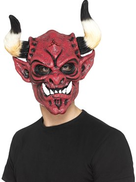 Foam Latex Devil Full Overhead Mask