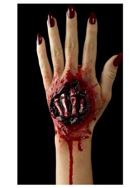 Foam Latex Exposed Hand Bones Prosthetic - Side View
