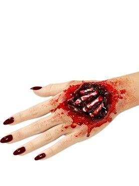 Foam Latex Exposed Hand Bones Prosthetic