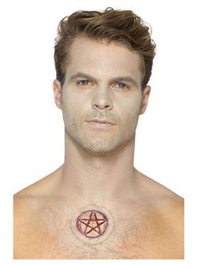Foam Latex Pentagram Scar Prosthetic - Back View