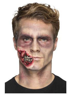 Foam Latex Zombie Jaw Prosthetic - Side View
