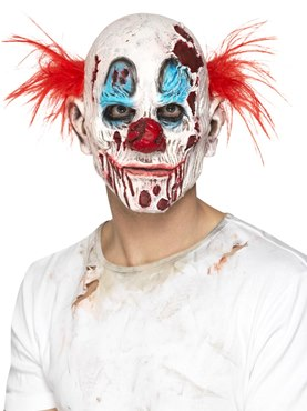 Foam Latex Zombie Clown Full Overhead Mask