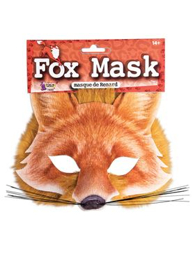 Fox Face Mask with Realistic Fur