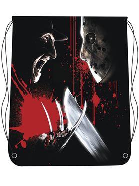 Freddy vs Jason Drawstring Bag