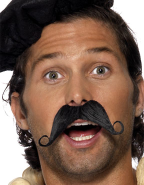 Frenchman Black Moustache
