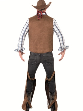 Adult Fringe Cowboy Costume - Side View