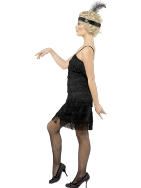 Adult Fringe Flapper Costume - Back View