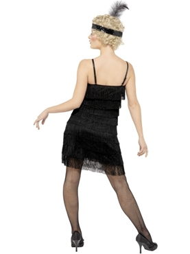 Adult Fringe Flapper Costume - Side View