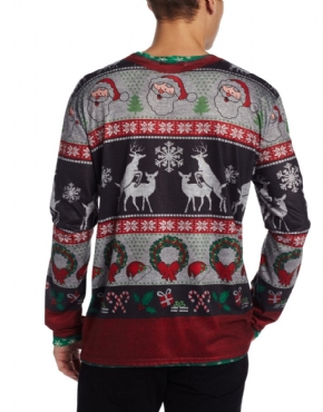 Adult Ugly Frisky Deer Christmas Jumper - Side View
