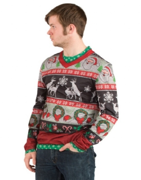 Adult Ugly Frisky Deer Christmas Jumper - Back View