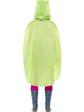 Frog Party Poncho Festival Costume - Side View