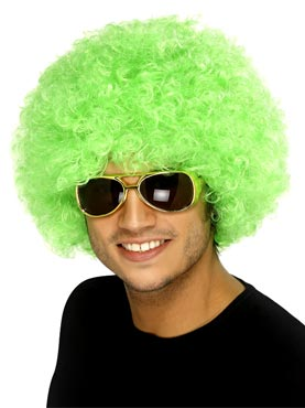 Crazy Clown Wig Green