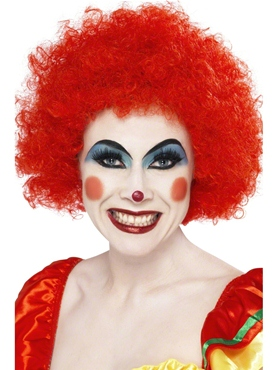 Crazy Clown Wig Red