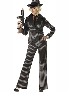 Adult Gangster Lady Costume