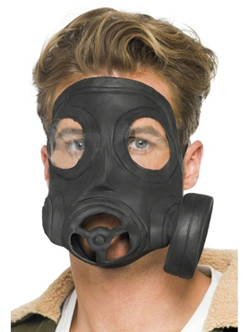 Gas Mask Black Rubber