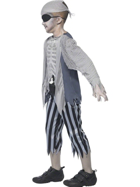 Child Ghost Ship Boy Costume - Back View