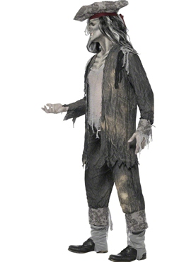 Adult Ghost Ship Ghoul Costume - Back View