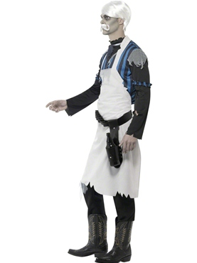Adult Ghost Town Bar Keeper Costume - Back View