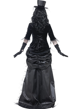 Adult Ghost Town Black Widow Costume - Side View
