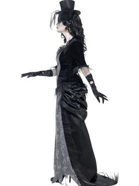 Adult Ghost Town Black Widow Costume - Back View