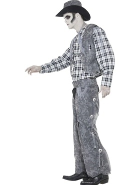 Adult Ghost Town Cowboy Costume - Back View