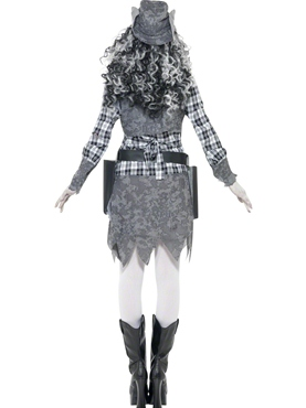 Adult Ghost Town Cowgirl Costume - Side View