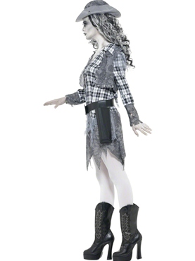 Adult Ghost Town Cowgirl Costume - Back View