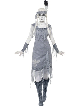 Adult Ghost Town Indian Princess Costume