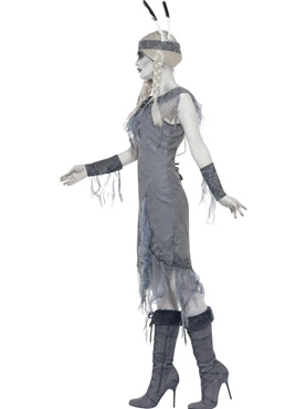 Adult Ghost Town Indian Princess Costume - Back View