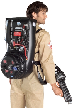 Adult Ghostbusters Costume - Back View