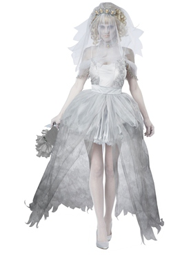 Adult Ghostly Bride Costume Thumbnail
