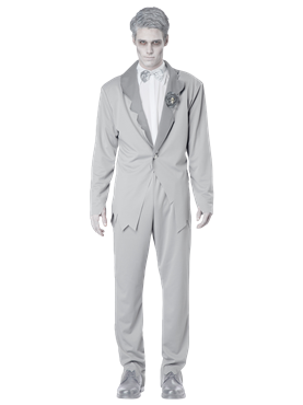 Adult Ghostly Groom Costume Couples Costume
