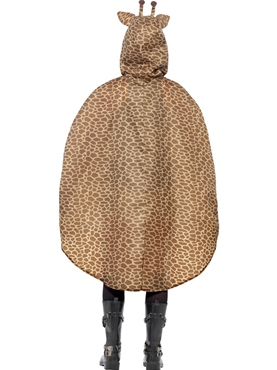 Giraffe Party Poncho Festival Costume - Side View