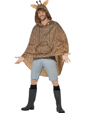 Giraffe Party Poncho Festival Costume - Back View
