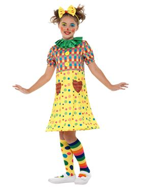 Girls Clown Costume - Side View