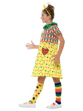 Girls Clown Costume - Back View